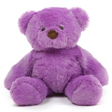 wholesale china beautiful purple color plush teddy bear toy