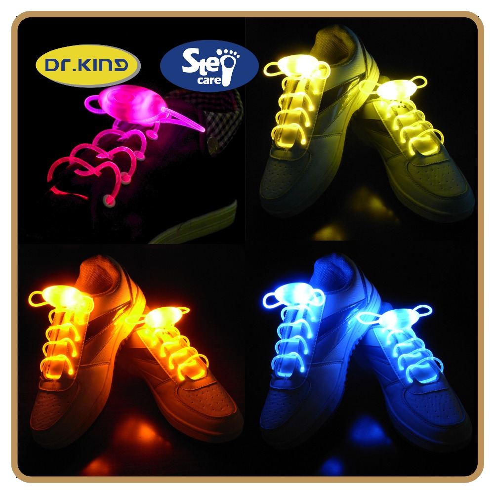 Blister card packing colorful led christmas shoelaces