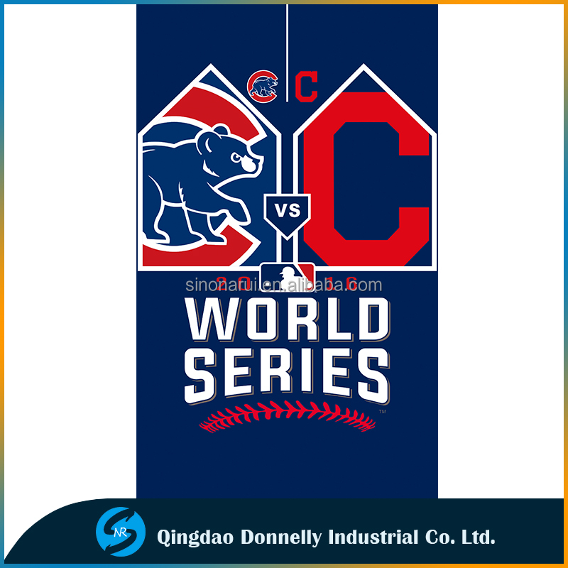 New Design World Series Chicago Cubs and Cleveland Indians flag 3x5ft Polyester Baseball Team Sport banners