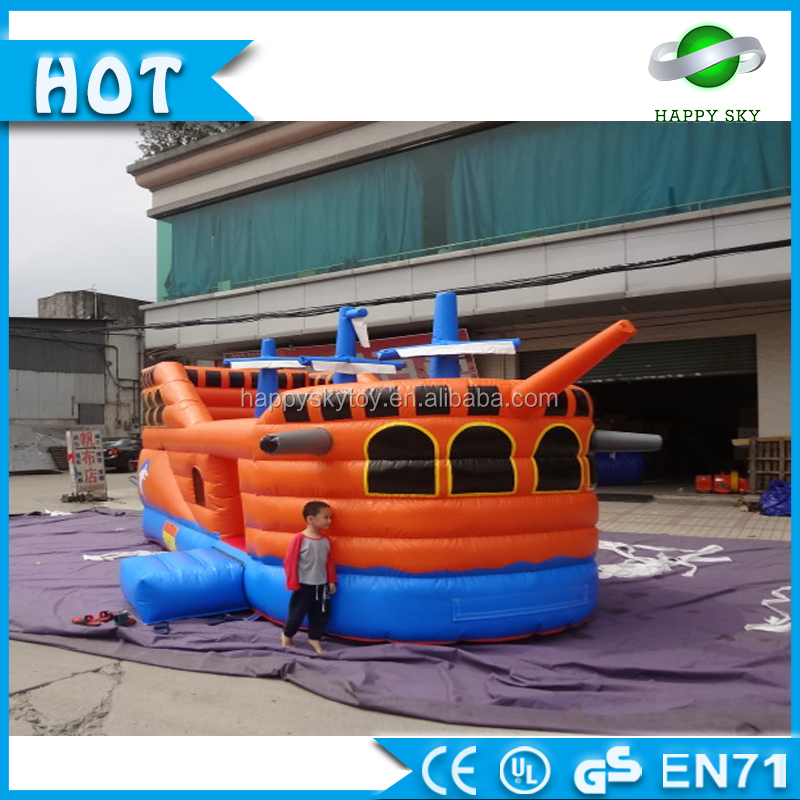 PVC tarpaulin top quality warship inflatable bouncer games inflatable bouncy castle for sale