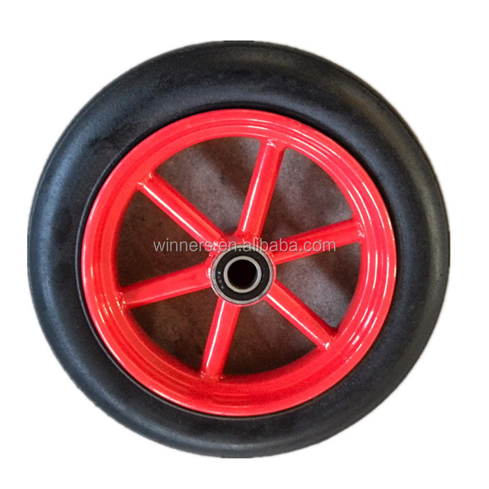 11 inch solid rubber powder wheel for beach cart