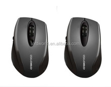 Shenzhen all black type Injected ABS plastic material wireless mouse