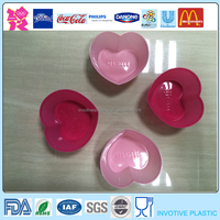 Easy Washing Pink Heart Shape Thin Silicone Cupcake Mould,Muffin Cups