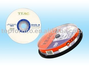 Blank DVD+R, DVD-R in 10pcs cake box package