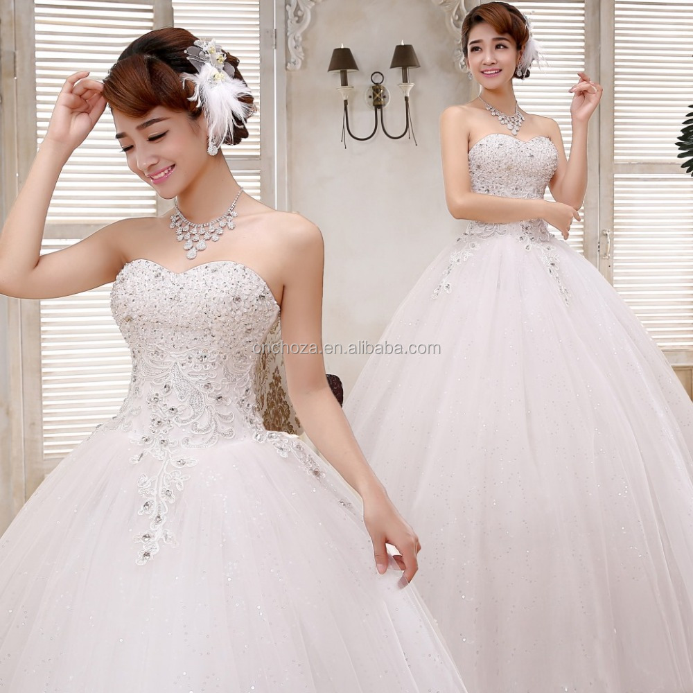 Z60568Y Korean Fashion Ladies Elegant Wedding Dresses