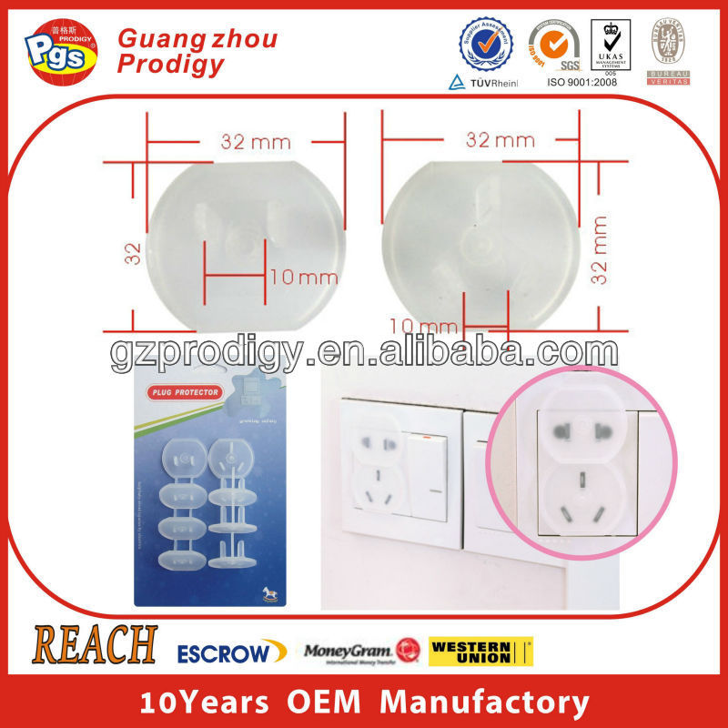 Kid safety round outlet box cover