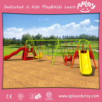 New design child outside park used metal play structure entertainment equipment outdoor kids playground swing and slide set