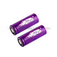 1000mah high capacity 18500 battery 18650 li-ion 3.7v rechargeable battery efest 15amp 18500 battery