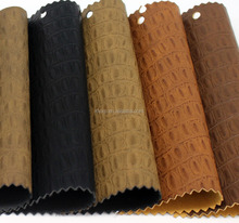 Crocodile pattern PU/artificial leather for making shoes/bag/sofa/car