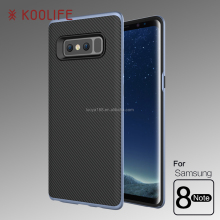 Armor Hybird Electroplating PC frame carbon fiber TPU back Mobile Phone Cover Protective New Case for Samsung galaxy note 8
