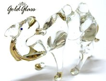 camel clear glass figurine