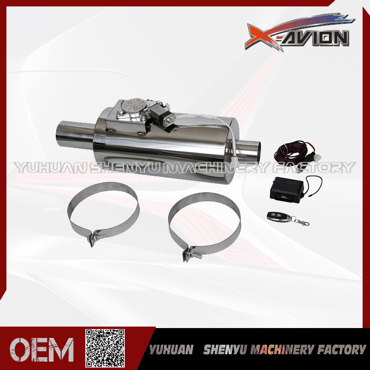 New Style Adjustable Remote Controlled Unit Stainless/ Aluminium Exhaust Muffler