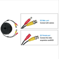 15M 49FT BNC DC Power Audio Video AV Cable Extension Line Wire For CCTV Camera DVR