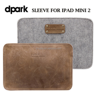 Genuine leather pounch for Apple iPad Mini 2 tablet covers cases factory - Brick