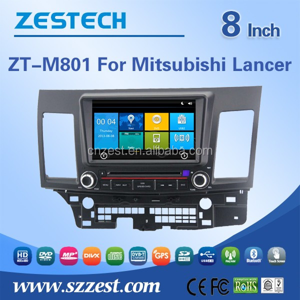 NEW car accessories double din car dvd gps for Mitsubishi lancer car dvd player gps navigation with AUX bluetooth