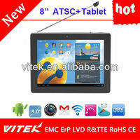 "Hot 8"" Android wifi Dual core 3g gps camera tv tablet pc"