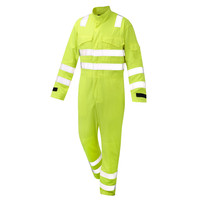 men winter waterproof reflective safety coverall for work