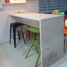 Newest artificial stone breakfast bar table and chairs