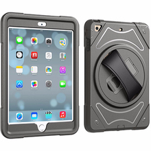 Rugged Case for iPad Mini 3 With 360 Degree Rotation Leather Hand Strap with Built-in Stand