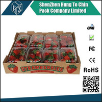 Cardboard Fruit Packaging Box Corrugated Strawberry