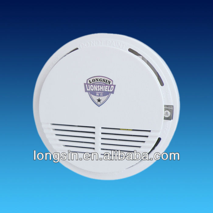 high sensitive wireless infrared photoelectric smoke detector transfer alarm signal by radio signal