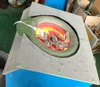 Automitic tilting small casting factory 10kg iron copper aluminum melting furnace