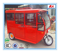 Chinese popular new style 1000w adult closed electric passenger bajaj tuk tuk tricycle with five doors
