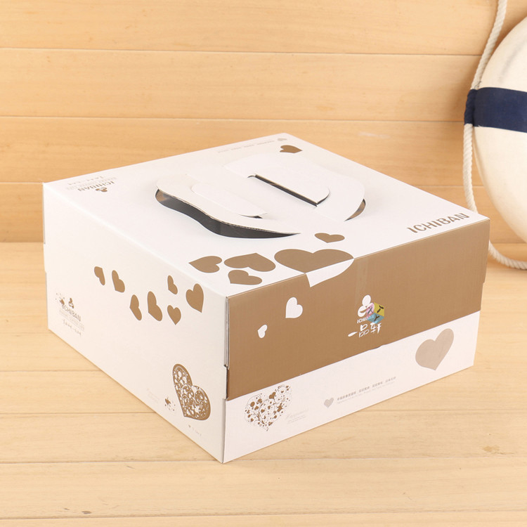 carry handle corrugated cardboard shenzhen cake box
