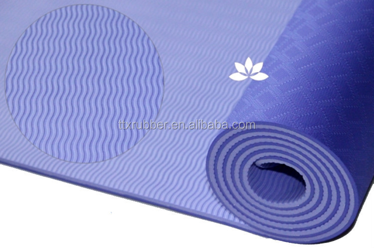 eco friendly custom print tpe yoga mat