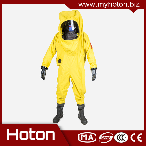 New design Level A chemical resistant suits for fireman safety working