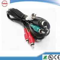 Factory supply custom 9 pin mini din to rca cable