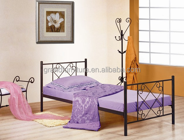 Modern style metal single bed for home furniture