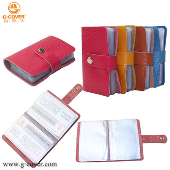 genuine leather business card holder