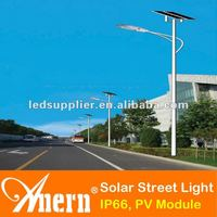 Low Voltage Outdoor LED Solar Street Lighting 80W With 130Wx2pcs Monocrystalline PV Module