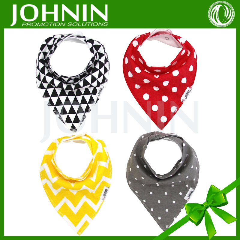 wholesale OEM service supply triangle cotton bandana bibs for baby
