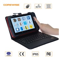 Small handheld tablet portable outdoor low price biometrics fingerprint scanner/ barcode scanner