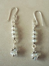 Top Design 925 Sterling Silver Seed Bead Earring