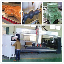 5 axis CNC cutting machine with saw blade and diamond tool for stone jobs