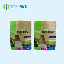 brown kraft paper seed packaging bag with special clear window