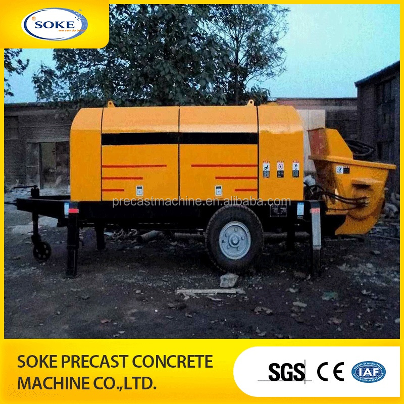 small fine stone portable concrete pump concrete pouring equipment