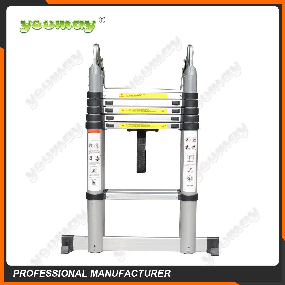 Lightweight extension ladder with telescopic steps for AT0210A