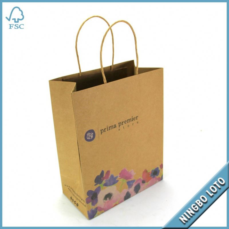 Total quality controlled custom printing paper shopping bag