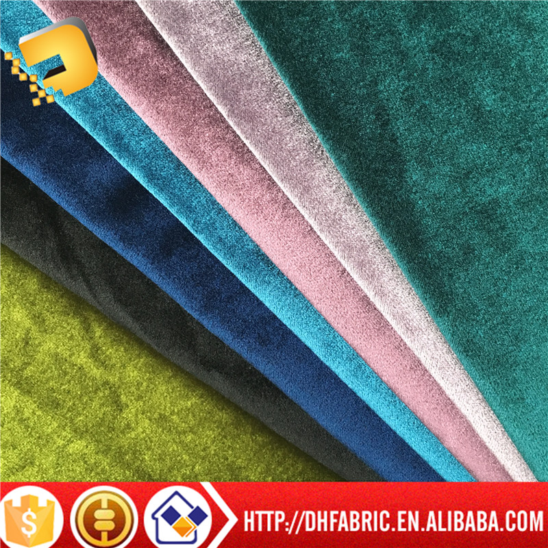 100% polyester velvet fabric for sofa for curtain cover of factory
