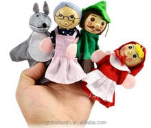 Hot Sale Soft Plush Little Red Riding Hood Finger Puppet