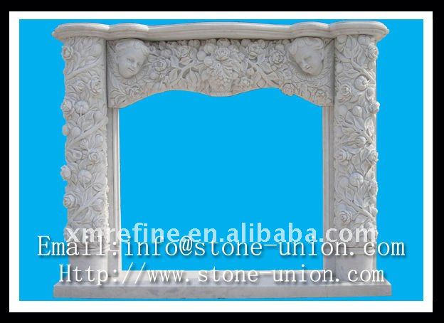 Double Marble Fireplace Mantel