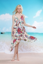 Playa <span class=keywords><strong>de</strong></span> lujo wedding <span class=keywords><strong>vestido</strong></span> estampado <span class=keywords><strong>de</strong></span> flores <span class=keywords><strong>hawaiano</strong></span>