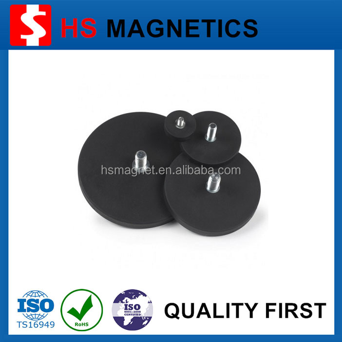 Strong Custom Rubber Coated Pot Magnet