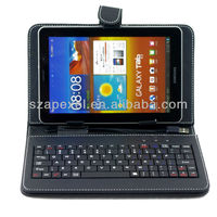 Hot sell USB Leather Tablet Keyboard Case For 7 8 9 10 inch android tablet