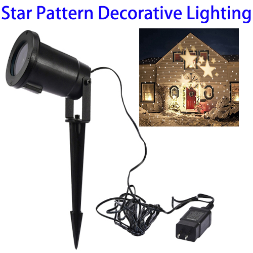 Christmas Decorations Led Spot Light Star Projector Lamp for Outdoor Lawn and Garden