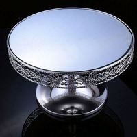 Factory Sale unique design crystal square cake stand with differen size
